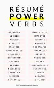 Resume Power Verbs And Resume Tips To Boost Your Resume Teaching