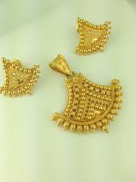 Latest Locket Set Designs In Gold 22k Gold Pendant Set 127 Grams Gold Earrings Designs Gold