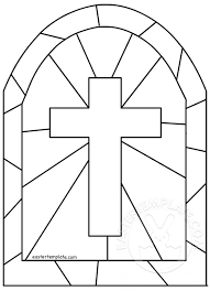 Glass Template Stained Glass Cross Template Easter Template