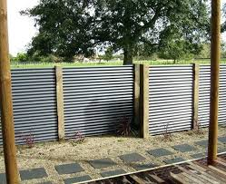 how to build a corrugated fence metal diy privacy cost tin best design interior 678x552 within
