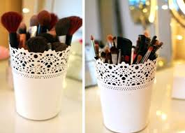 brush holder beads. makeup brush storage diy brushes beads bag 4 plant pots holder u