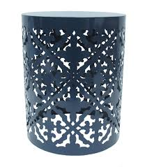 metal accent table. Hudson 43™ Metal Accent Table-Navy Table