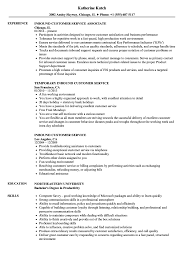 Exceptional Resume Examples Inbound Customer Service Resume Samples Velvet Jobs