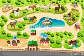 simple zoo map for kids. Plain Simple Petting Zoo Map Inside Simple For Kids A
