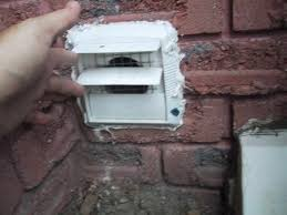 exterior exhaust fan vent cover. above is a picture of the vent cover for basement powder room\u0027s ceiling fan. notice two things. first when fan in room not pushing air exterior exhaust
