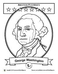 Free Printable George Washington Coloring Pages George Washington ...