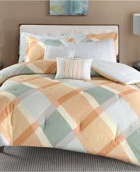 madison park drew 7 pc cotton flannel reversible king california king duvet cover set orange