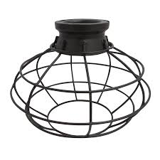 portfolio 6 75 in h 8 in w french bronze wire industrial cage pendant light
