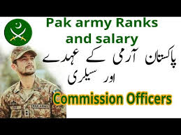 Indian Army Clerk Salary Chart Pak Army Ranks And Salary Details Commission Officers