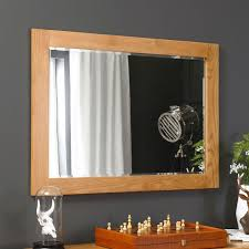 solid oak large wall mirror the