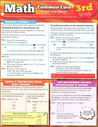 Quick Study Charts Math Common Core State Standards 3rd Grade Quick Study