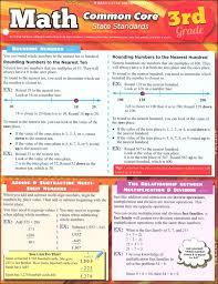 Common Core Math Standards Chart Math Common Core State Standards 3rd Grade Quick Study