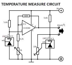 temperature indicator circuit temperature measure circuit diagram
