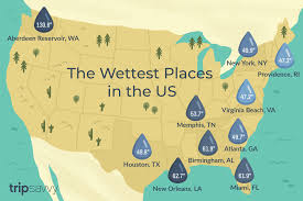 California Annual Rainfall Chart Map Of The Wettest Places In The Usa
