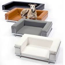 modern pet furniture. such a lovely brindled beauty in this le corbusier dog sofa modern pet furniture