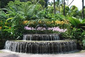 Small Picture Garden Waterfall Ideas Garden statues add interest to a yard deck