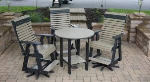 poly lumber furniture. Beautiful Lumber Country View Poly Pub Table Set For Lumber Furniture L