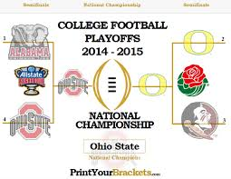 2014 2015 College Football Playoff Bracket Results