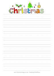 Printable Stationery Letter From Online Downloadable Christmas
