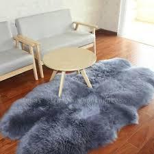 blue grey 100 australian genuine sheepskin rugs carpet lambskin home decor mats
