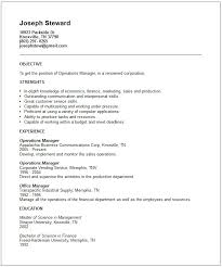operations manager resume example supply operation manager resume