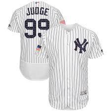 Judge Majestic Mlb Yankees Stars - Stripes New Authentic Flex York Jersey Aaron White Fashion Base 99 Men's amp;