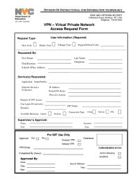 Access Order Form Template Vpn Access Request Form Template Fill Out And Sign