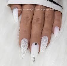 Nail Art Designs On White Nails Snow Winter Christmas Nails Nailsart Nailart