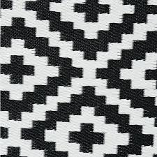 black geometric rug and