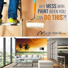 why paint an accent wall when you could hang an awesome wallpaper wall mural