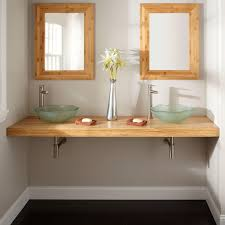 Diy Custom Floating Bathroom Vanity Design In Solid Natural Bamboo Diy Floating Vanity Cabinet