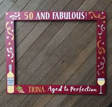 wine booth frame prop sip sip ay birthday decor 30th design of surprise 50th birthday party