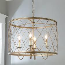 drum chandelier gold