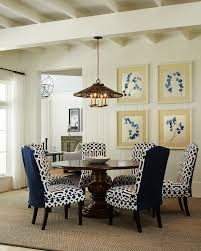 best klamath modern blue white fabric dining chair set of 2 regarding blue and white dining chairs ideas