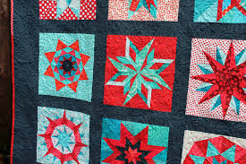 A special finish…. | WOMBAT QUILTS & Red star quilt detail 2 Adamdwight.com