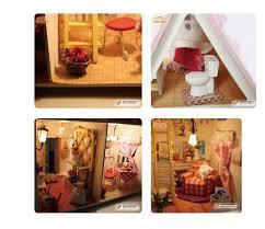 home decoration crafts diy doll house wooden doll houses miniature diy dollhouse furniture kit villa led build dollhouse furniture