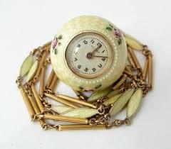 vintage bucherer guilloche enamel ball