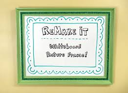 diy picture frame whiteboard by tiffany threadgould