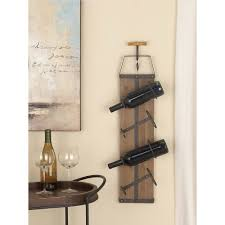 Image Wall Hung Rustic Iron And Wood Wine Rack With Corkscrew Sculpture22630 The Home Depot The Home Depot Litton Lane 32 In In Rustic Iron And Wood Wine Rack With