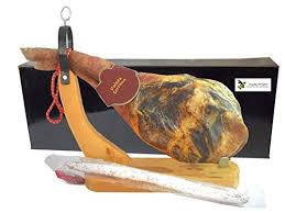 Ham Stands For Carving And Display Spanish ham Jamon Serrano Shoulder Reserva Paleta with holder 27