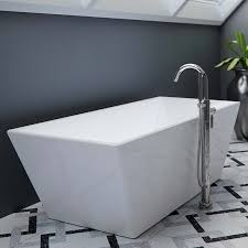 rectangle freestanding tub with angled sides