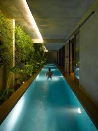 Indoor Swimming Pool With Vertical Garden Wall