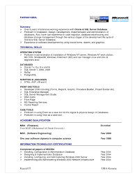 Sql Fresher Resume Sample Oracle Dba Resume Format Amazing Sql Dba Resume Sample Resumes And 6