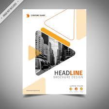 White Brochure Orange And White Business Brochure Design Vector Free Download