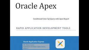 Oracle Apex Conditional Color Sql Query And Report