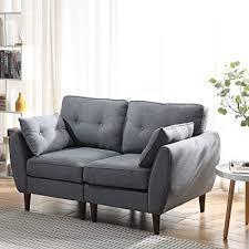 Cherry Tree Furniture Brooks Fabric Sofa (Grey, 2-Seater) : Amazon ...
