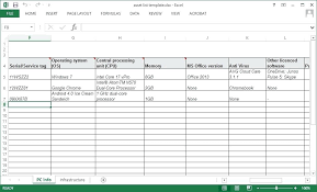 Asset Spreadsheet Template Download Free Excel Template For Asset