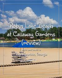 robin lake beach at callaway gardens in