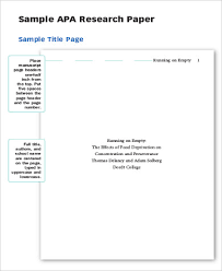 Cover Sheet In Apa Format Apa Format Cover Page For Research Paper General Format Purdue