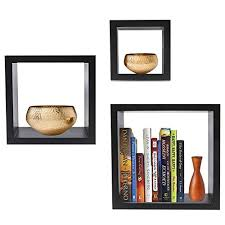 sorbus floating shelves square shaped hanging wall shelves for decoration features shadow square frame design for photo frames collectibles